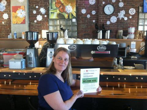 Cathy Walsh, owner of Arabica Coffee in Portland